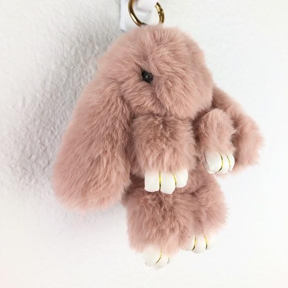 Fur Bunny Keychain